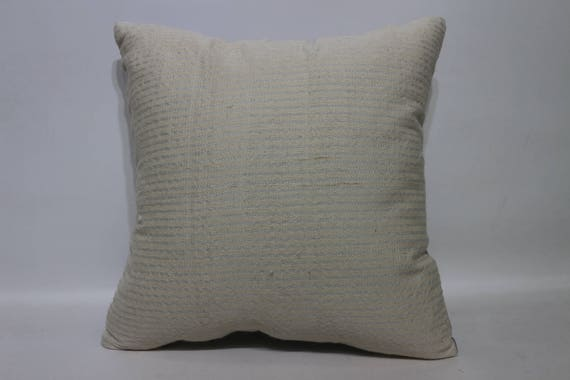 Anatolie Kilim blanc coussin 16 x 16 Kilim turc coussin décoratif Kilim coussin sol oreiller Home Decor coussin couverture SP4040-4125