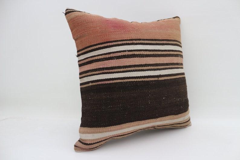 18x18 pillows striped pillow brown pillow body pillow bench pillows rare turkish pillows kilim pillows cushion case throw pillow SP4545-2783