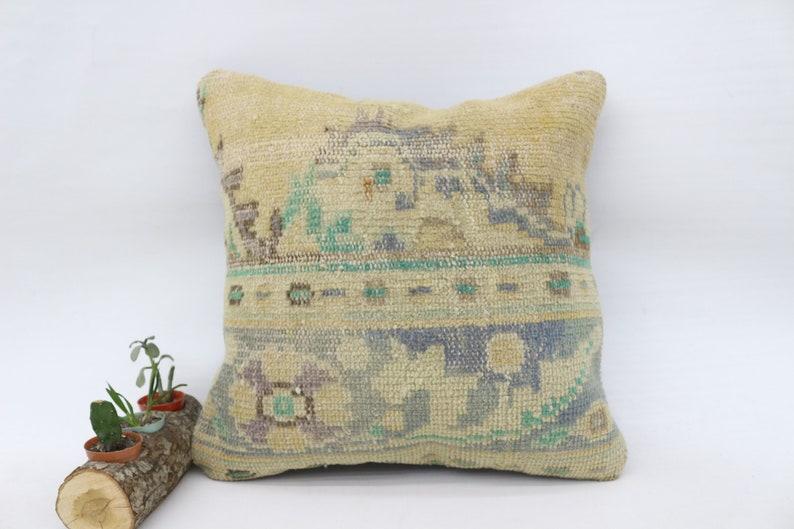 Large Pillow Ottoman Pillow Blue Pillow Pillow Cover 20x20 Kelim Kussen Cushion Cover Rug Pillow SP5050 5885 Faded Pillow,Woven Pillow