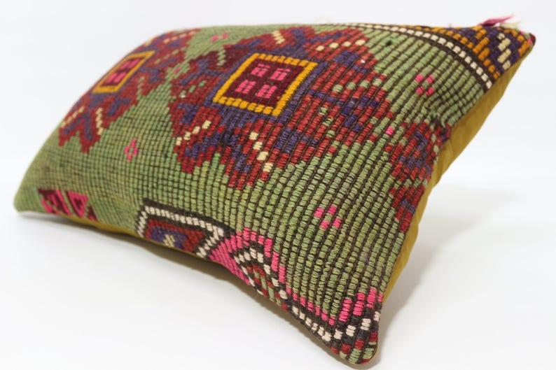 16x24 Naturel Embroidered Kilim Pillow Boho Pillow 16x24 Turkish Kilim Pillow Bedroom Pillow Home Decor Cushion Cover  SP4060-729