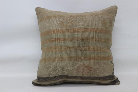 Handwoven Kilim Pillow Tribal Kilim Pillow Art Desing Cushion Cover Moroccan Homedecor 20\u201dx20\u201d \u0131nches,Turk\u0131sh Kilim Pillow Aztec