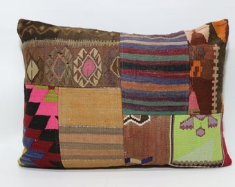 24x32 Turkish Kilim Pillow Patchwork Kilim Pillow Home Decor Cushion Cover 24x32 Bedroom Pillow Sofa Pillow Ethnic Pillow  SP6080-669