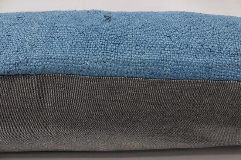 Boho Pillow,Flat Pillow,Lumbar Throw Pillow SP40107 261 Vintage Kilim Pillow 16x42 Navajo Pillow Hemp Pillow Covers,Blue Pillow