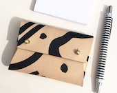 """Personalised handmade mini leather pouch / business card holder - MILA """"Shapes"""""""