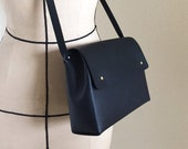 Handmade leather shoulder bag - SCYLLA Matte Black - Can be personalised