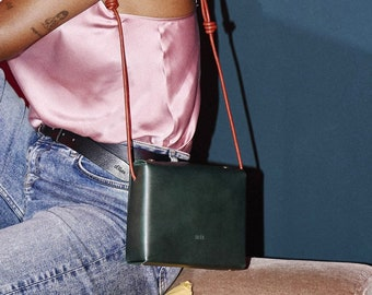 Honey Dijon Creator Collab - HONEY bag - handmade green leather bag