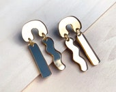 Statement drop earrings MYRA - Mirror Gold