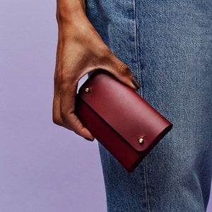 Honey Dijon Creator Collab - SASKIA wallet - handmade burgundy leather purse