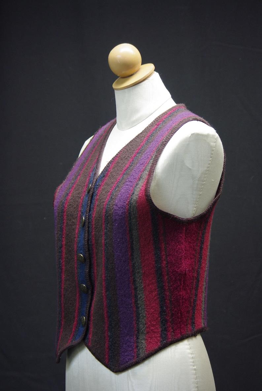 Striped Wool Vest