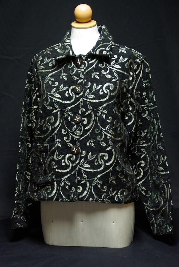 Classy Reversible Black Chenille Jacket