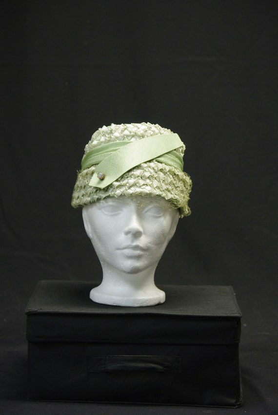Mint Green Classic 40's Hat, Made in Canada