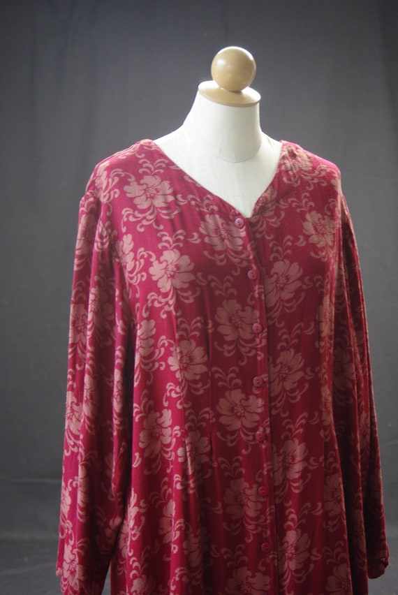 Elegant Rust Floral Dress, April Cornell