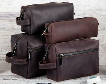 Christmas gifts, Dopp Kit, Leather Dopp Kit, Mens gift ideas, Leather Bag, Leather Toiletry Bag, Mens Toiletry Bag, Travel Bag, Mens gift