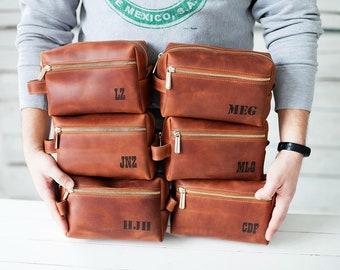 d2785383b1bc Leather Travel Bag Leather Dopp Kit Groomsmen Gift Leather Toiletry Bag  Shave Kit Personalized Gift Wedding Gift Groomsman Gift Mens Gift