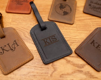 Leather luggage tags, Luggage tags personalized, luggage tag favor, luggage tags wedding, wedding favors