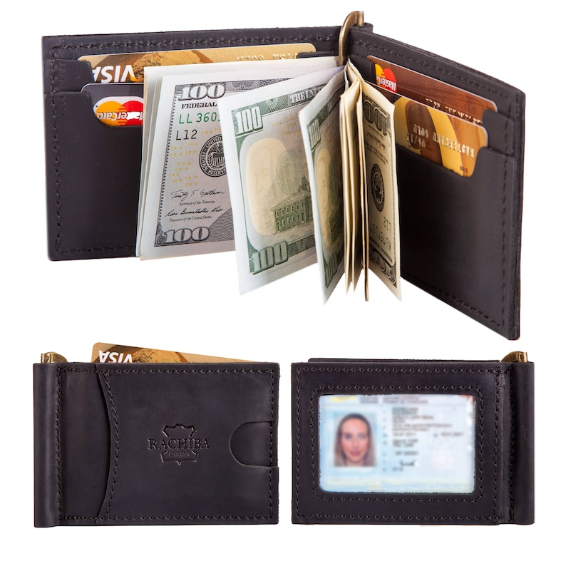 a773fe511a16 Leather Bifold Mens Money Clip Wallet Thin Minimalist Front Pocket Slim  Design Groomsmen Gift Mens Gift Personalized Wallet Gift for Him