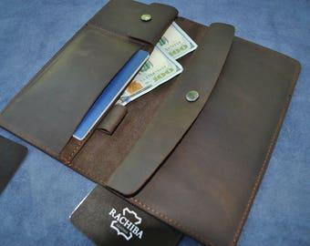 Passport Holder, Leather Travel Wallet, Passport Holder, Passport, Boarding Pass Travel Document Case By LeatherRachiba