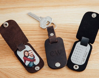Calendar keychain, Gift for boyfriend, Husband keychain picture, Leather gifts for 3rd ANNIVERSARY, Husband Gift, anniversary gift for him