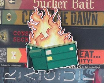 Dumpster Fire Cut Out Sticker