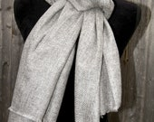 Cashmere Shawl Scarf Wrap Pashmina Shawl Scarf Wrap Herringbone Pattern Handmade in Nepal