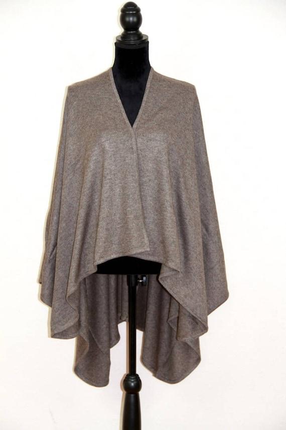 Cashmere Jumper Sweater Poncho Cape Wrap Wool Shawl Coat Serape Blanket Winter