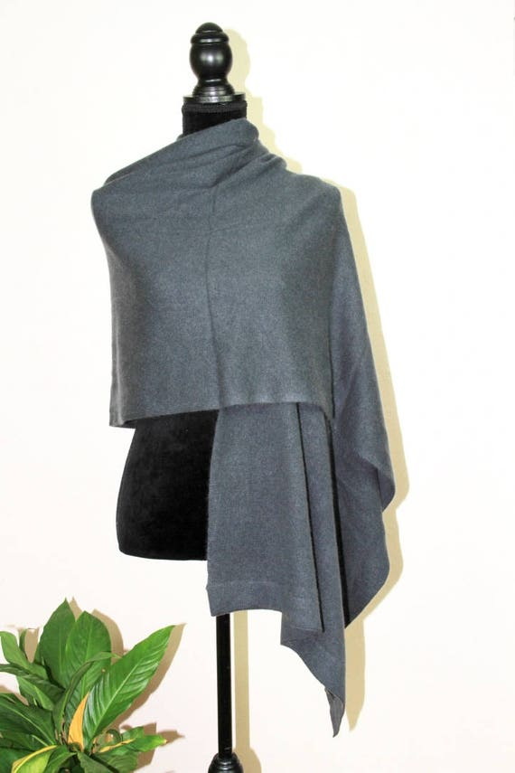 Wrap Wrap Warm Jumper Cashmere Sweater Shawl Blanket Grey Gift Cape Pashmina Poncho Cashmere Scarf Pure to Winter Travel 100 Ideal qW48px