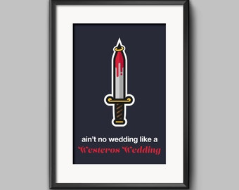 "Minimalist ""Westeros Wedding"" Game of Thrones Poster"