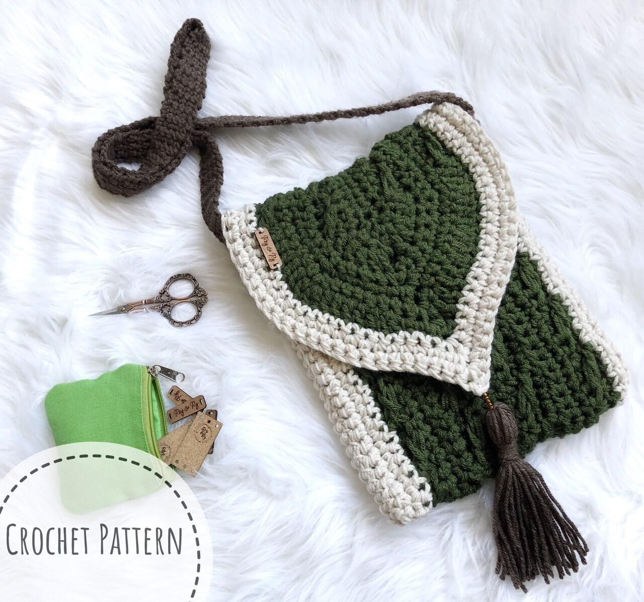 Crochet Pattern Haven Messenger Bag Chunky Crochet Bag Etsy