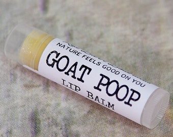 Goat Poop ~ Organic Herbal Lip Balm, Perfect Christmas Gift for Goat Lovers, Mom Presents, Animal Lover, Funny Gifts, Stocking Stuffers