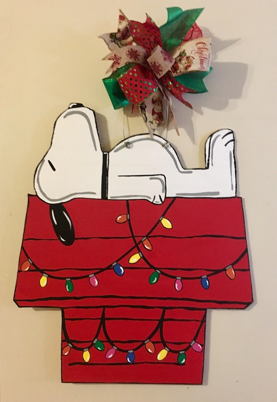 Snoopy Christmas Images.Snoopy Christmas Door Hanger Charlie Brown Christmas Door Hanger