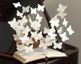 Book Decor   Home Decor   Book Decorations   Library Decor   Reading   Home  Decorations   Paper Art   Butterfly Decor   Book Art Sculpture