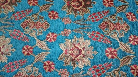 Tissu Style Tribal ethnique Chenille d'ameublement tissu, tissu Navajo aztèque, conception géométrique Kilim, 3 mètres/Cour