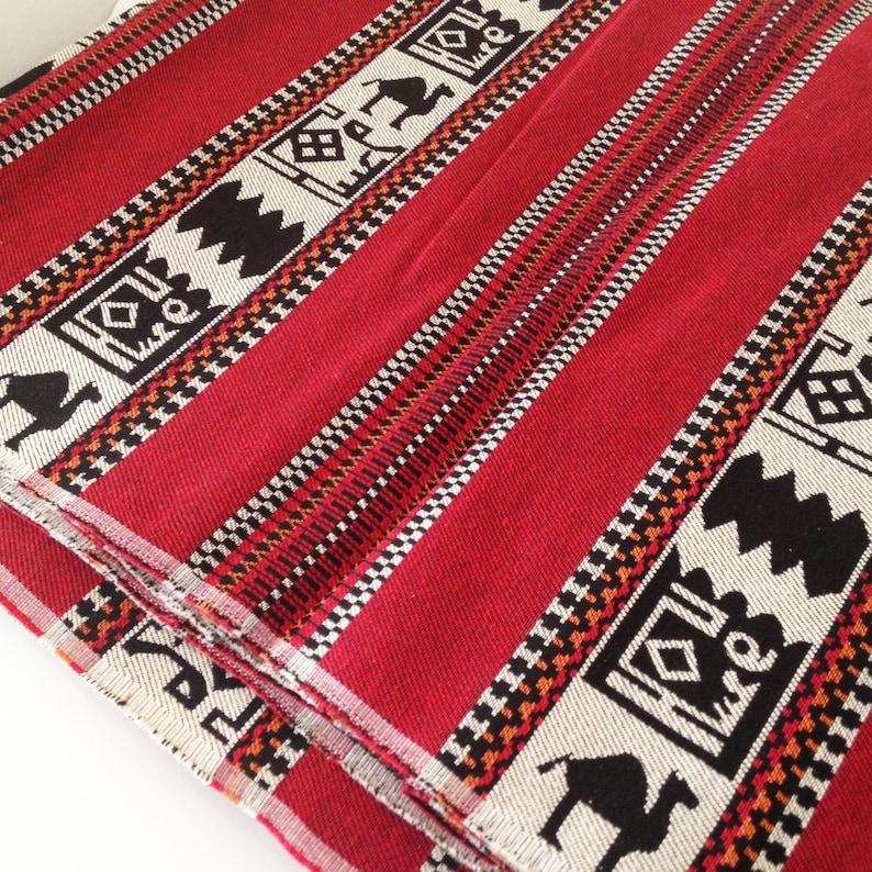 Wholesale Fabrics Tapestry Fabric 5 MetersYards Geometric Kilim Fabric Traditional Tribal Style Upholstery Fabric