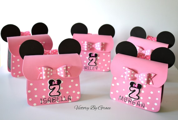 Pink Minnie Birthday Goody Bags Red Party