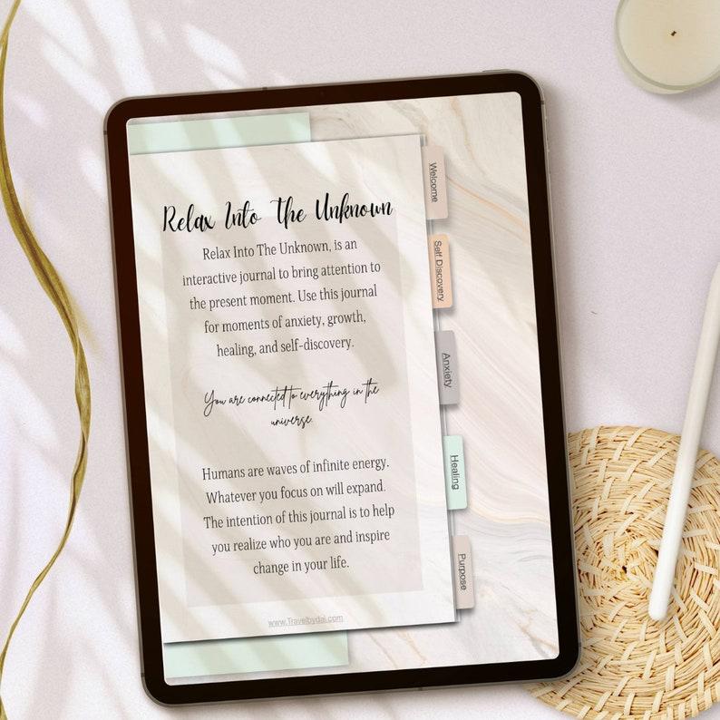Hyperlinked Manifestation Digital Planner Journal and notebook image 0