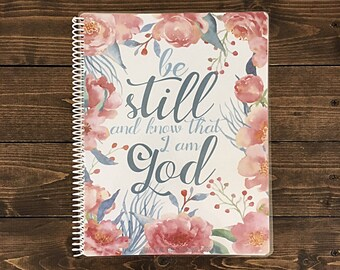 One Year Bible Reading Guide, Study Journal, Through the Bible Plan, 40 page, coil bound notebook, 8.5 x 11 inch
