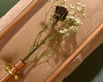 Copper Frame with Dried Rose & Gypsophila