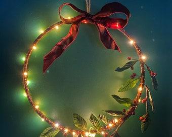 Rustic Berry Christmas Wreath