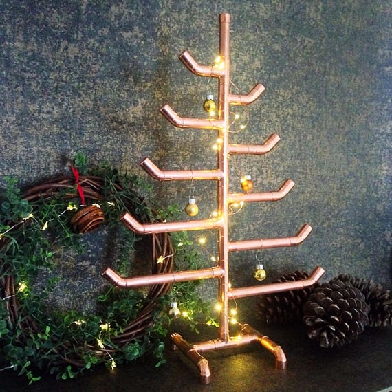Copper pipe Christmas tree industrial | Etsy
