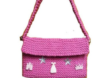 Knitted Pink Purse