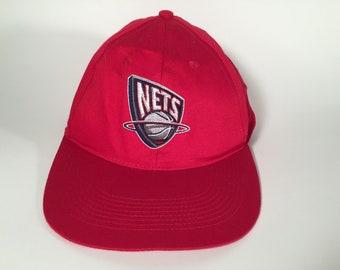 Red NY Nets Snapback Hat 70d77f4379db