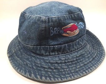 Denim Bru-Thru Bucket Hat Size Small 90s 52cd9b560db