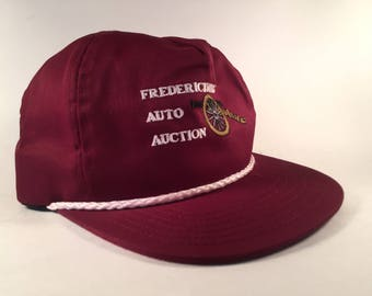 Vintage Burgundy Canon Embroidered