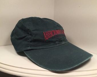 5aa86be751f76 Dark Green Vintage Abercrombie   Fitch Dad Hat Strapback
