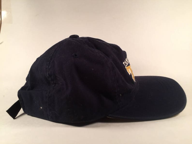 03b7c7445 Vintage VTG Black and Yellow Tommy Hilfiger Athletics Dad Hat Strapback  With Tags