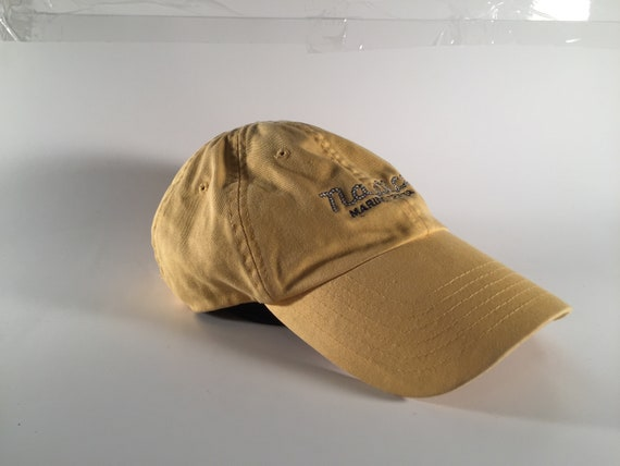 Pastel Yellow Nautica Hat with Plenty of Wear  2a3a4d61987