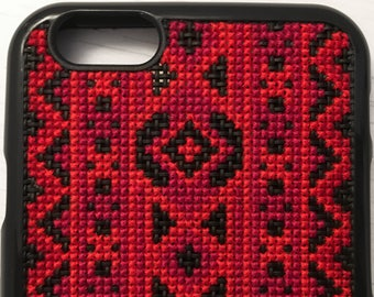 Free Shipping! Cross Stitch Phone Case for iPhone 6/6S & iPhone 7 Plus with a Traditional Pattern
