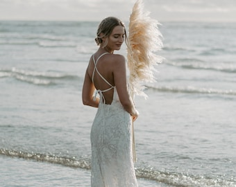 4d628dd5fc6f2 Wedding Dress, Casual wedding Dress , Beach Wedding Dress, Boho Wedding  Dress, lace wedding dress, flowing skirt, bridal gown, chiffon gown
