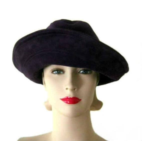 Vintage 60's George Malyard Purple Suede Hat