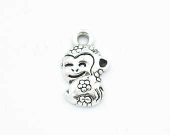 BULK 50 Monkey charms antique silver tone A416 SALE 70/% OFF